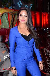 Actress Naina Ganguly Stills in Blue Dress at RGV Shiva to Vangaveeti Event  0015.JPG
