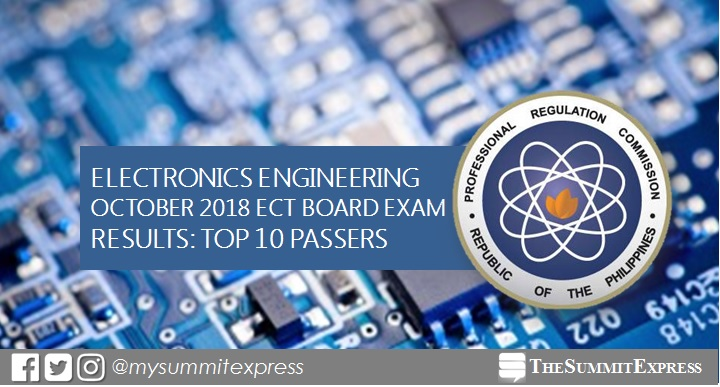 RESULT: October 2018 ECT board exam top 10 passers