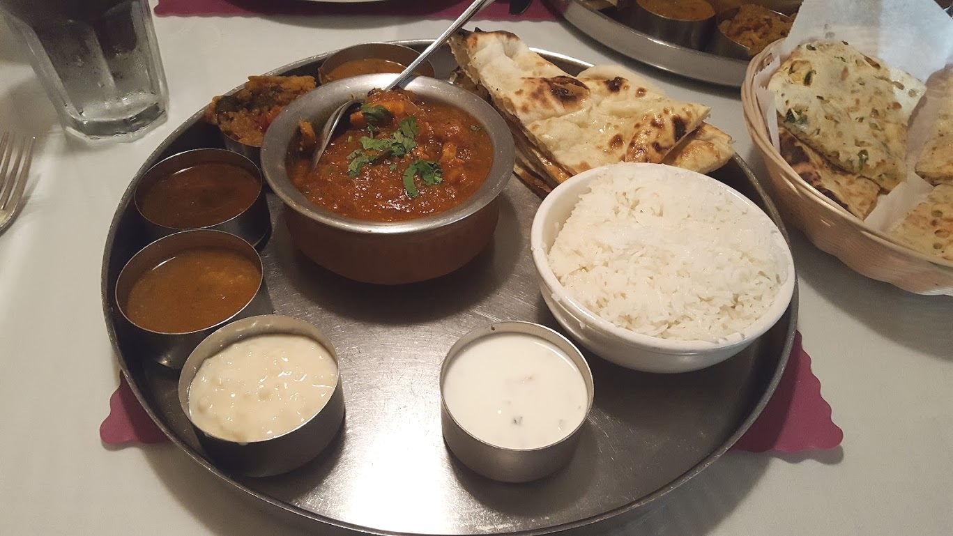 chicken masala Indian food Thali