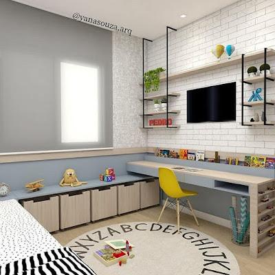 desain cat kamar tidur unik