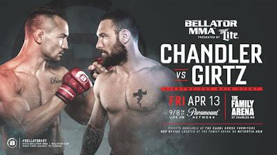 Ver Bellator 197 Chandler vs Girtz En vivo gratis 13 de Abril online