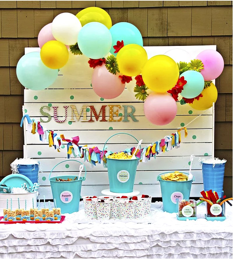 Summer party ideas via BirdsParty.com @birdsparty