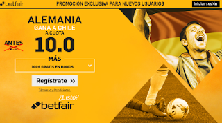 betfair supercuota Copa Confederaciones Alemania gana a Chile 2 julio