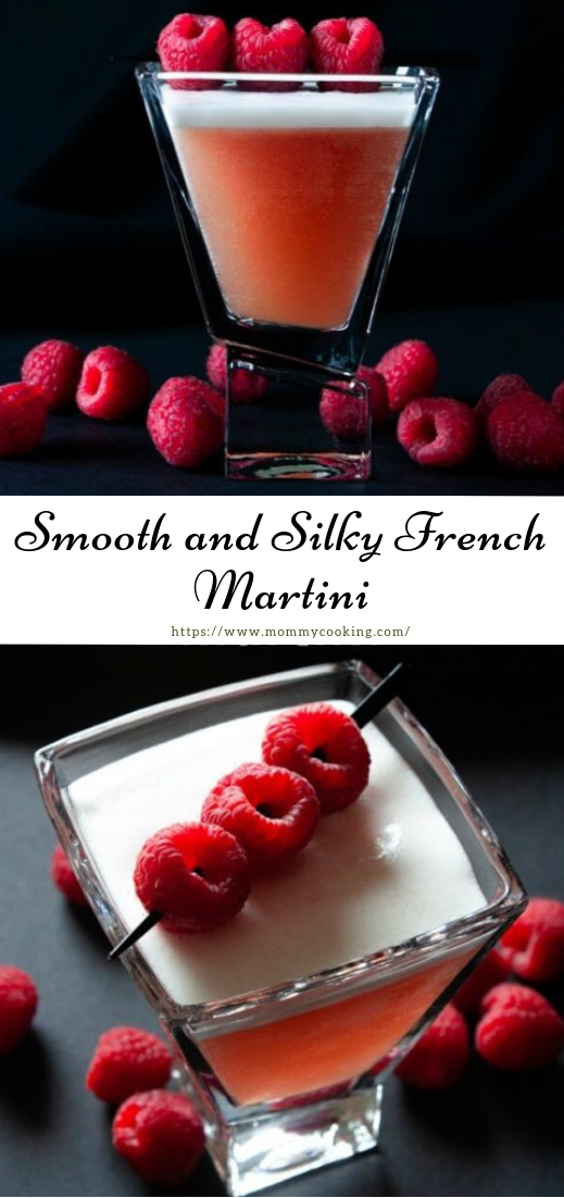 Smooth and Silky French Martini #cocktail #smoothie