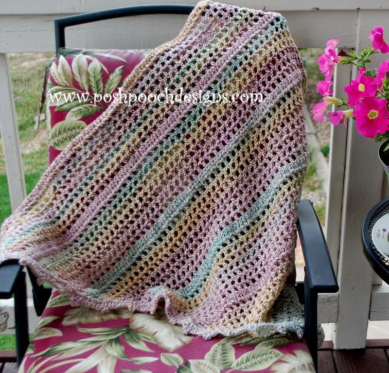 Posh Pooch Designs Dog Clothes Everyday Shawl Crochet Pattern For