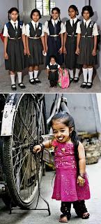 2. Jyoti Amge (Gadis Terkecil di Dunia)