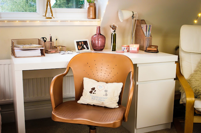Rose Gold Chair IKEA hack
