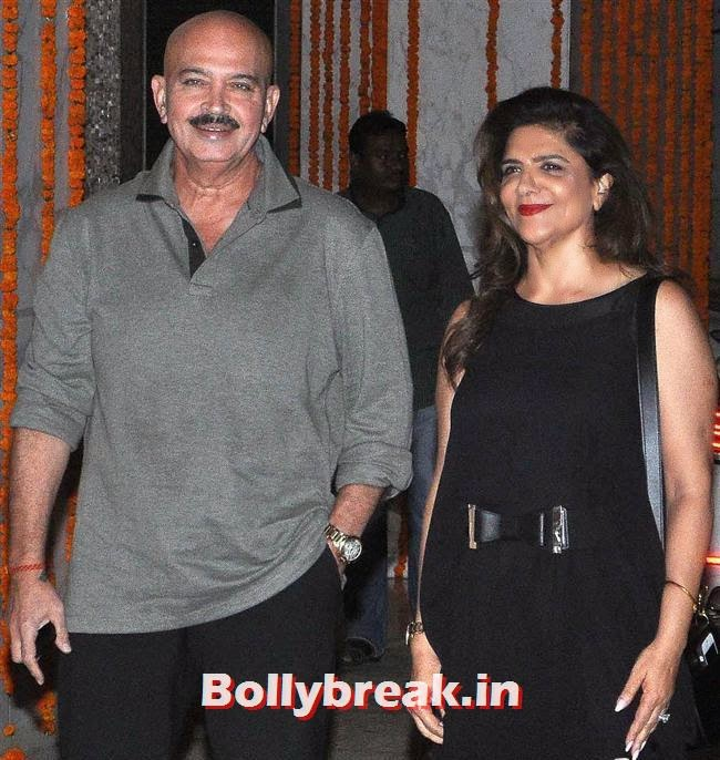 Rakesh Roshan and Pinky Roshan, Bollywood Celebs at Kangana Ranaut Birthday Bash Pics