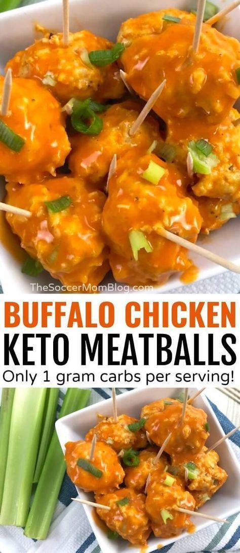 Keto Buffalo Chicken Meatballs (Gluten Free, Paleo)