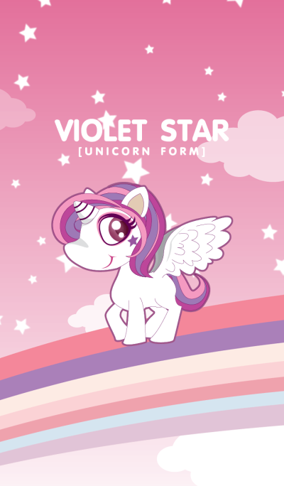 VIOLET STAR (UNICORN FORM)