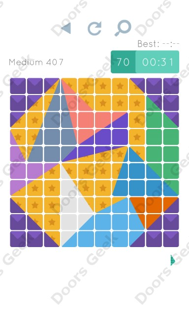 Cheats, Walkthrough for Blocks and Shapes Medium Level 407