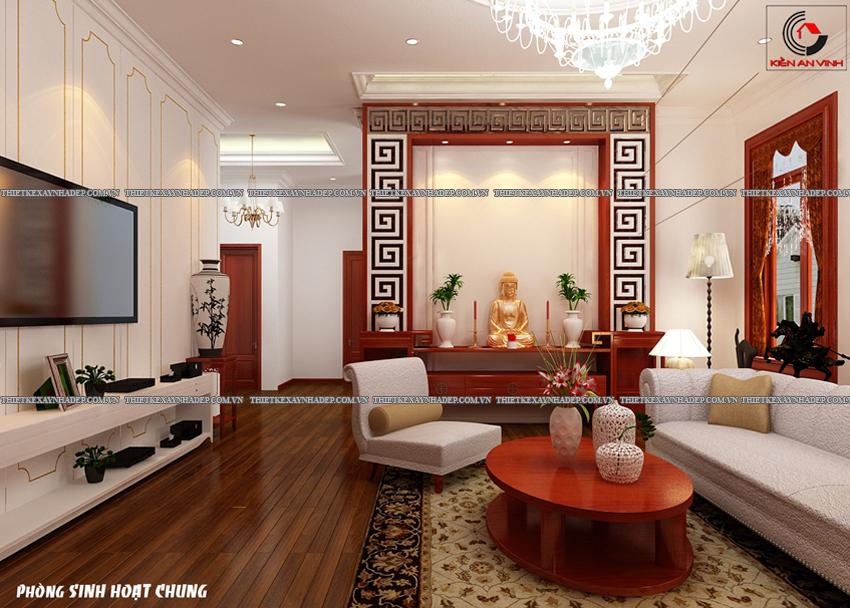 Mẫu thiết kế biệt thự nhà vườn 1 tầng đẹp hiện đại dt 150m2 Phong-shc-2