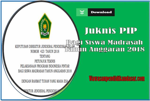 Download Petunjuk Teknis pelaksanaan PIP Madrasah Tahun Anggaran 2018