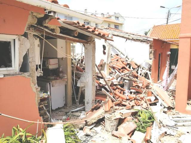 Explosão destrói habitação no Pai do Vento