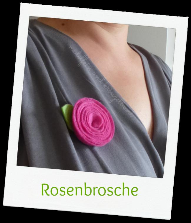 DIY Rosenbrosche Alternativschmuck Nähen Basteln Stoffreste Filz