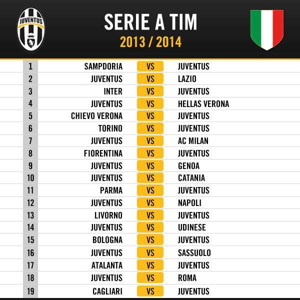 Juventus Calendario Serie A.Juventus Calendario Serie A 2013 2014 Juventus Blog