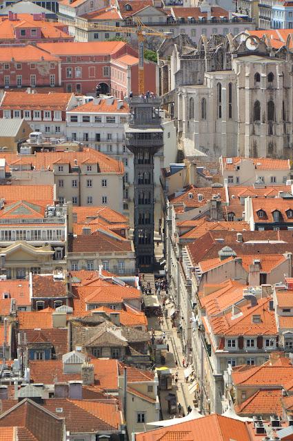 Lisbonne - Elevador Santa Justa - Igreja do Carmo
