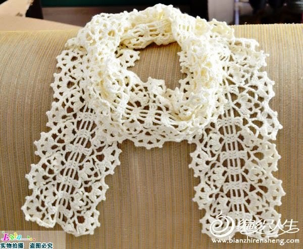 Crochet Home White Summer Scarf