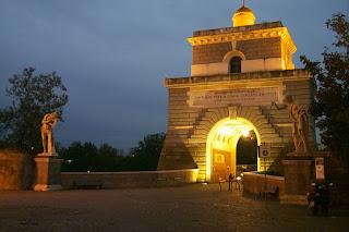 The Ponte Milvio is a narrow bridge across the Tiber in the north of Rome, close to the Stadio Olimpico football ground