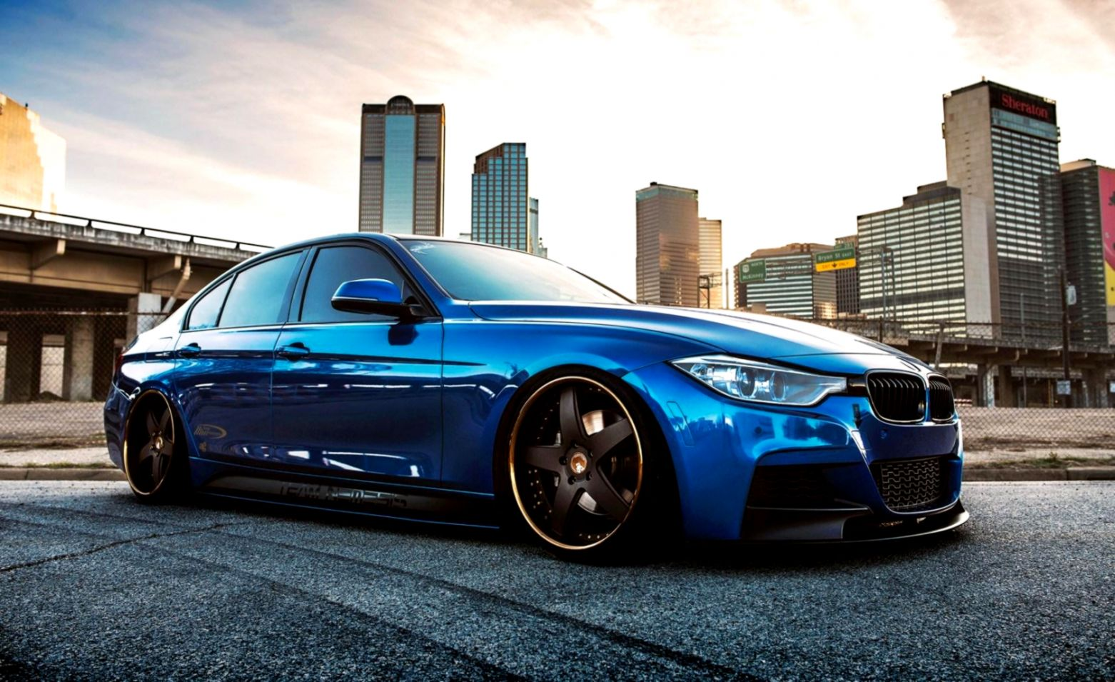 Bmw 335i F30 Car Blue Front Night Hd Wallpaper Just Wallpapers