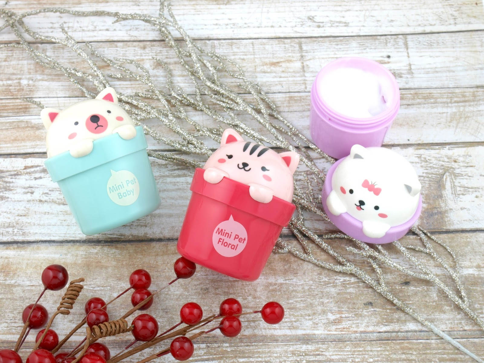 THEFACESHOP Mini Pet Hand Cream Trio
