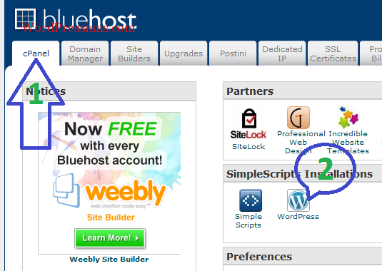 How To Install WordPress To Bluehost