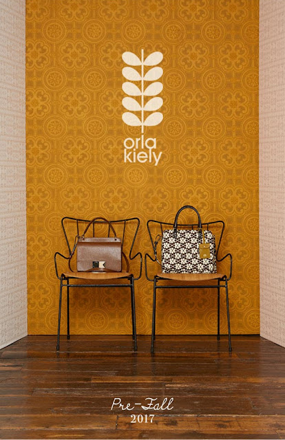 Orla Kiely Pre-Fall 2017 Mainline: Textured Leather in Black and Nutmeg