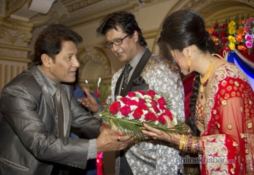 rajesh hamal and madhu bhattarai wedding, shiva shrestha