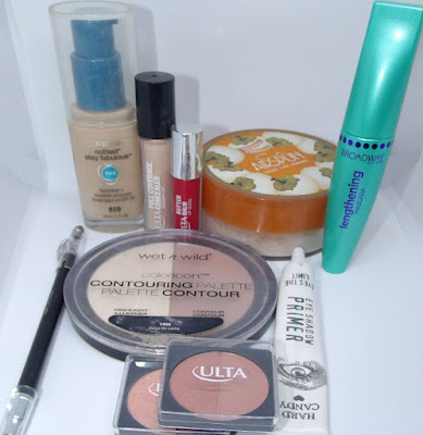 Covergirl, ulta, hard candy, broadway colo, wet n wild,