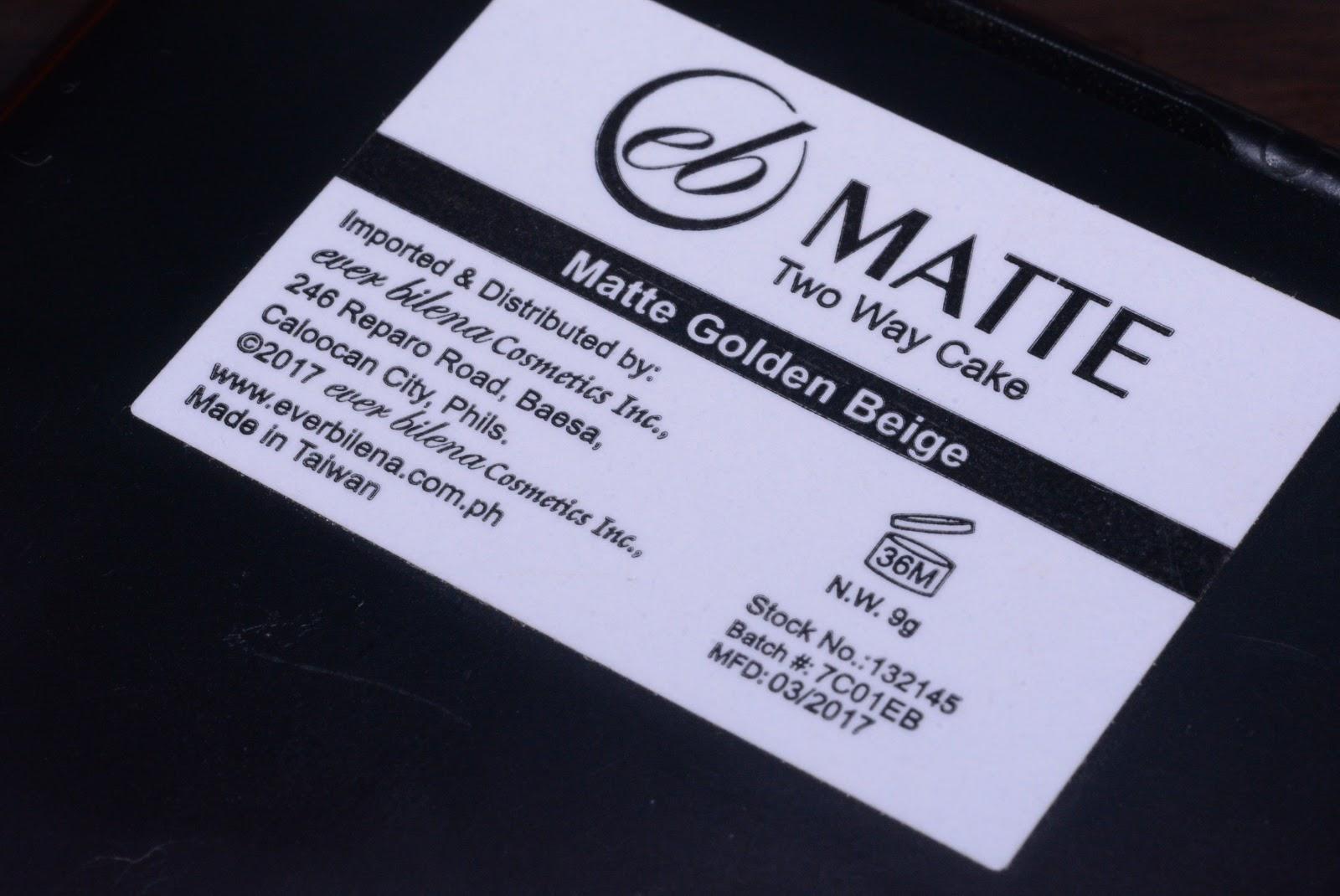 REVIEW: Ever Bilena Matte Two Way Cake in Golden Beige