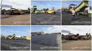Pengaspalan Tahap 4 Pelabuhan Bandar Bakau Jaya, Bojonegara Cilegon Banten.