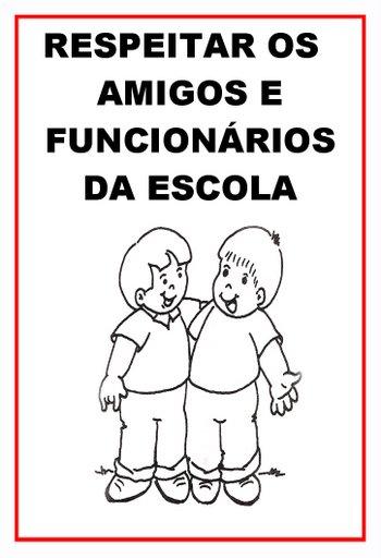 Resultado de imagem para regras de convivência na escola