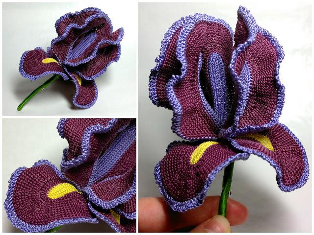 Flor Iris de Crochet Tutorial Paso a Paso