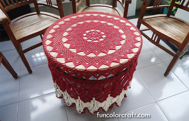 Free Round Tablecloth Crochet Pattern