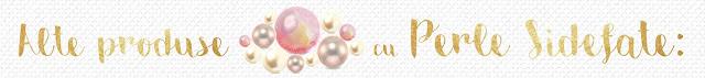 Lumanari de botez cu perle sidefate