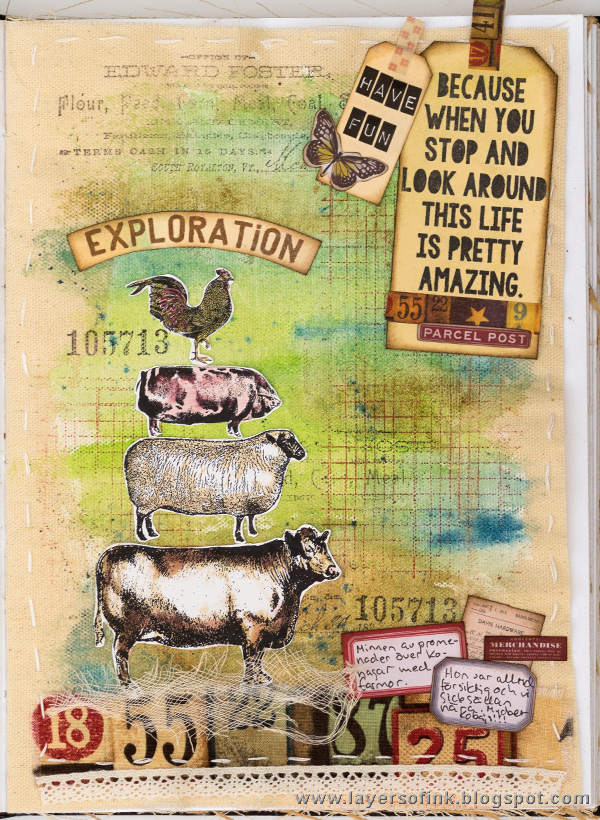 Layers of ink - Exploration Journal Page by Anna-Karin in Dina Wakley's Media Journal