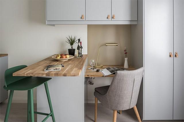 Garsonieră de 16 m² asemănătoare unei camere de cămin