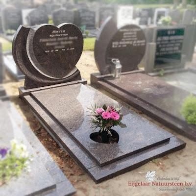 grafsteen hart, hartvormige grafsteen, grafsteen hartvorm