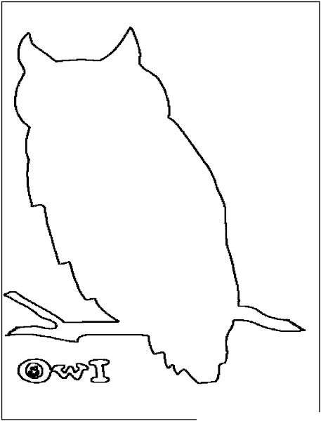 Cute Baby Owl Coloring Pages