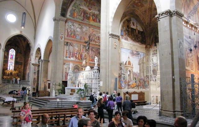 Informações sobre a igreja Santa Maria Novella em Florença