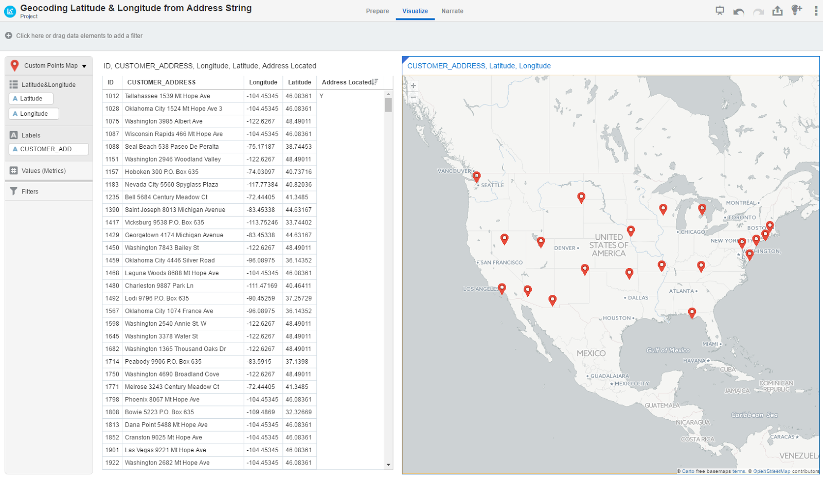 Customize Your Geocode Data with Oracle Data Visualization ... on geodesic map, cartogram map, globe map, longitude map, germany map, google map, geochronology map, mobile map, casino map, hospital map, area code directory map,