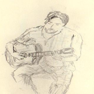 croquis musique guitariste