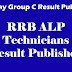 RRB ALP Technicians Result Published 2018