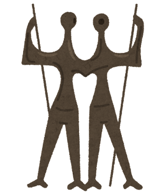 労働戦士の像のイラスト