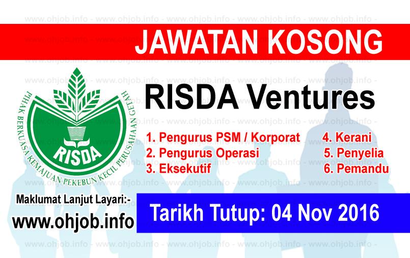 Jawatan Kerja Kosong RISDA Ventures logo www.ohjob.info november 2016