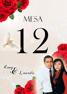 Tarjeta de Número de Mesa para Invitados a Boda Elegante y Novedosa Roja con Rosas Rojas Personalizada con Fotografía
