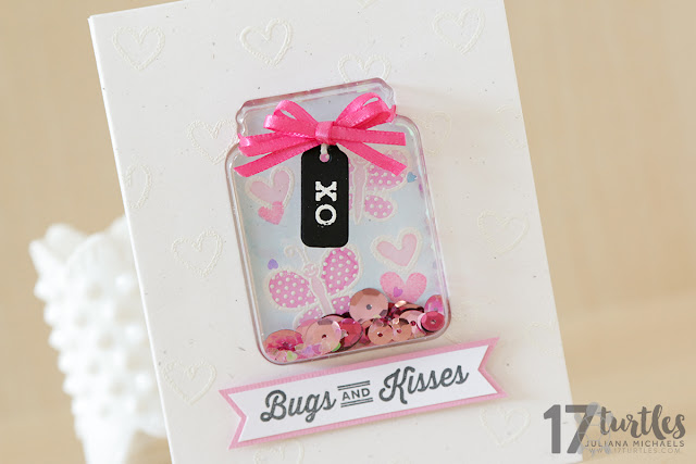 Bugs and Kisses Valentines Day Card created by Juliana Michaels featuring Jillibean Soup Shake Shaker Collection