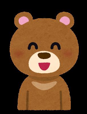 笑顔の熊のキャラクター
