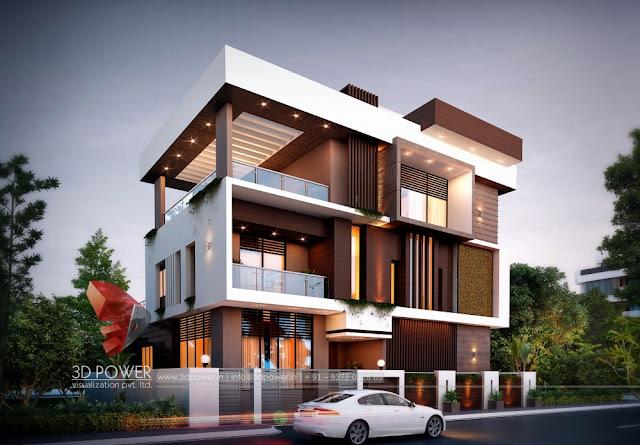 Modern-3D-Bungalow-Architectural-Exterior-View