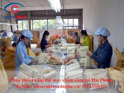 Phân phối và lắp đặt hệ thống máy chấm công uy tín cho các doanh nghiệp tại CCN Vĩnh Niệm Hải Phòng.